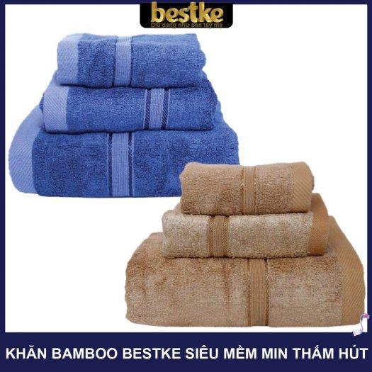 Combo 5 khăn gồm 3 Khăn gội và 2 khăn mặt bestke 100% cotton9