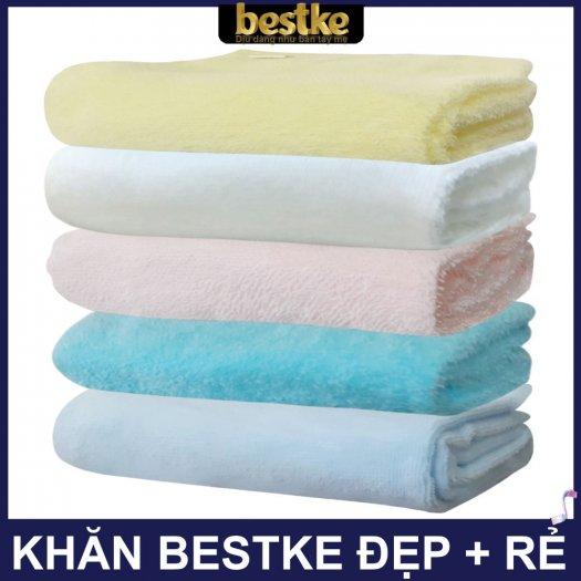 Combo 5 khăn gồm 3 Khăn gội và 2 khăn mặt bestke 100% cotton8
