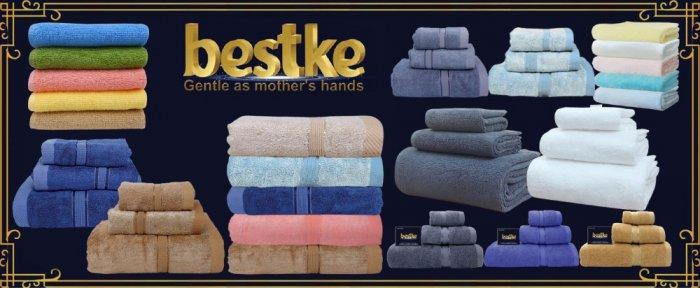 Combo 5 khăn gồm 3 Khăn gội và 2 khăn mặt bestke 100% cotton6
