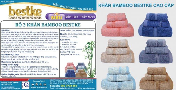 Combo 5 khăn gồm 3 Khăn gội và 2 khăn mặt bestke 100% cotton2