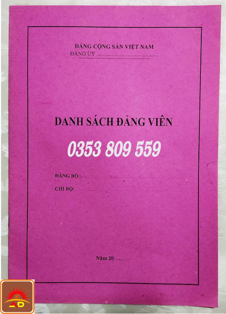 Mua bán, địa chỉ nơi bán cuốn, quyển sổ danh sách đảng viên3