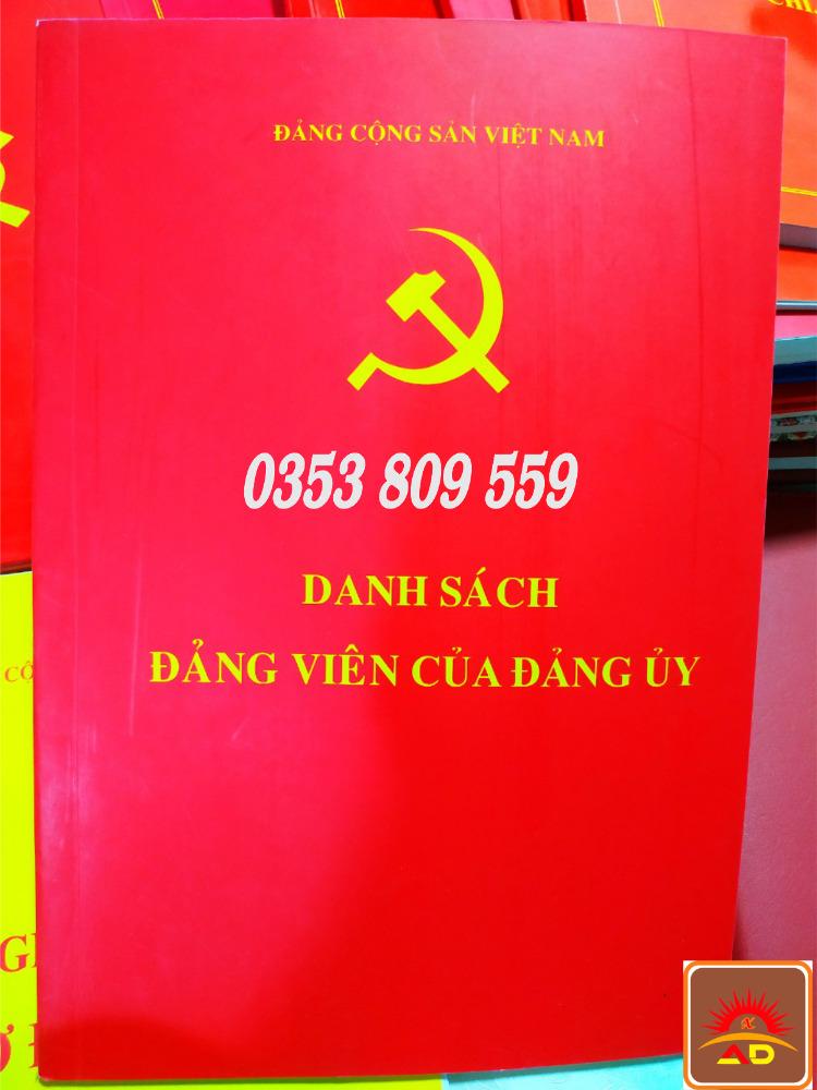 Mua bán, địa chỉ nơi bán cuốn, quyển sổ danh sách đảng viên2