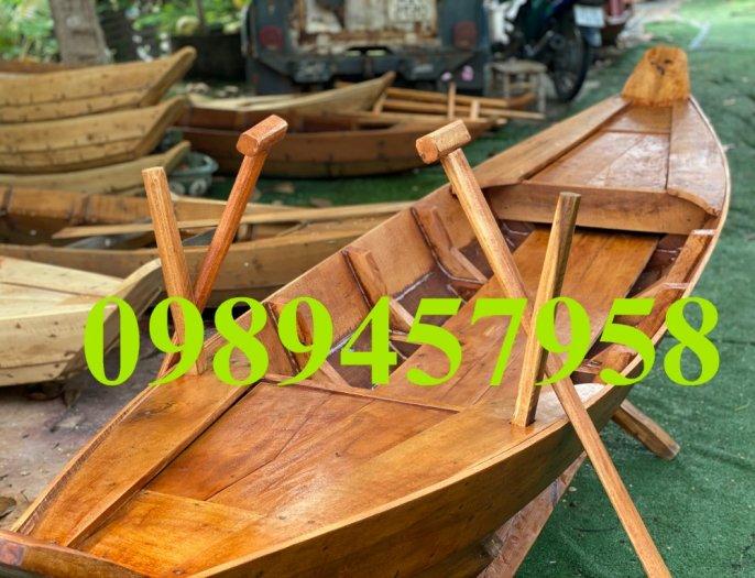 Thuyền gỗ chèo tay 3m, Thuyền gỗ 4m, Thuyền gỗ trang trí, Thuyền gỗ chụp ảnh7