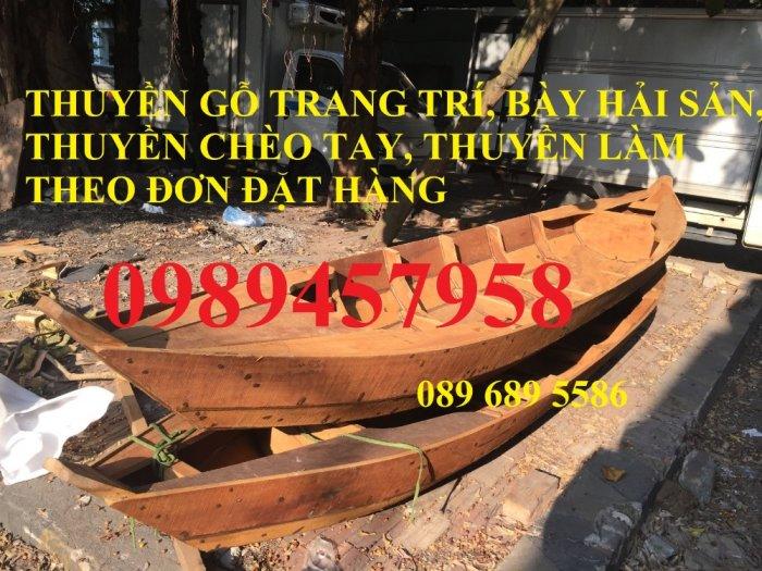 Thuyền gỗ chèo tay 3m, Thuyền gỗ 4m, Thuyền gỗ trang trí, Thuyền gỗ chụp ảnh2