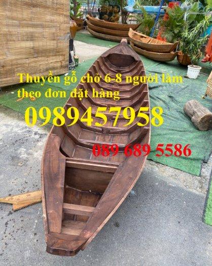 Thuyền gỗ chèo tay 3m, Thuyền gỗ 4m, Thuyền gỗ trang trí, Thuyền gỗ chụp ảnh0