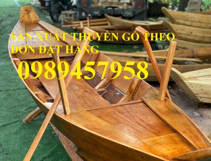 Thuyền gỗ trang trí, Thuyền gỗ chèo tay 3-4 người, Thuyền gỗ 3m, 4m có sẵn10