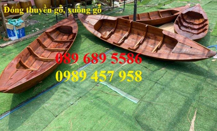 Thuyền gỗ trang trí, Thuyền gỗ chèo tay 3-4 người, Thuyền gỗ 3m, 4m có sẵn9