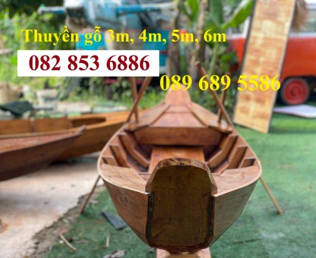Thuyền gỗ trang trí, Thuyền gỗ chèo tay 3-4 người, Thuyền gỗ 3m, 4m có sẵn8