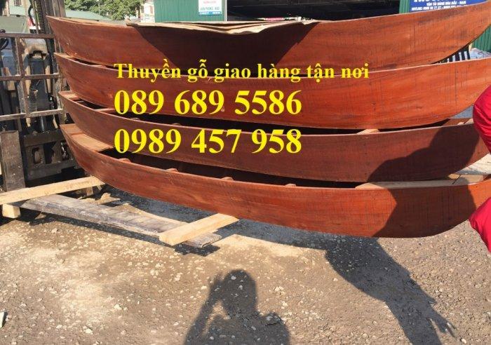 Thuyền gỗ trang trí, Thuyền gỗ chèo tay 3-4 người, Thuyền gỗ 3m, 4m có sẵn5