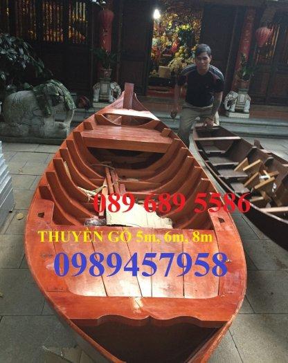 Thuyền gỗ trang trí, Thuyền gỗ chèo tay 3-4 người, Thuyền gỗ 3m, 4m có sẵn4