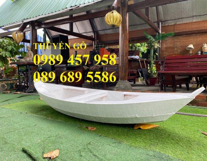 Thuyền gỗ trang trí, Thuyền gỗ chèo tay 3-4 người, Thuyền gỗ 3m, 4m có sẵn2