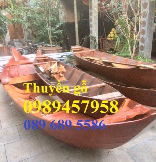Thuyền gỗ trang trí, Thuyền gỗ chèo tay 3-4 người, Thuyền gỗ 3m, 4m có sẵn1