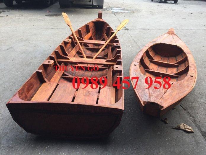 Thuyền gỗ trang trí, Thuyền gỗ chèo tay 3-4 người, Thuyền gỗ 3m, 4m có sẵn0