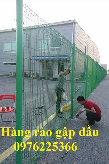 Hàng rào mạ kẽm sơn tĩnh điện D4, D5, D6, sản xuất theo yêu cầu7