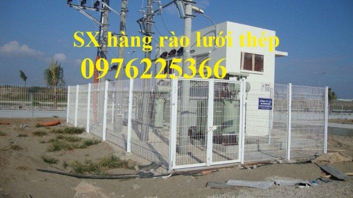 Hàng rào mạ kẽm sơn tĩnh điện D4, D5, D6, sản xuất theo yêu cầu4