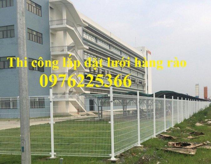Hàng rào mạ kẽm sơn tĩnh điện D4, D5, D6, sản xuất theo yêu cầu1