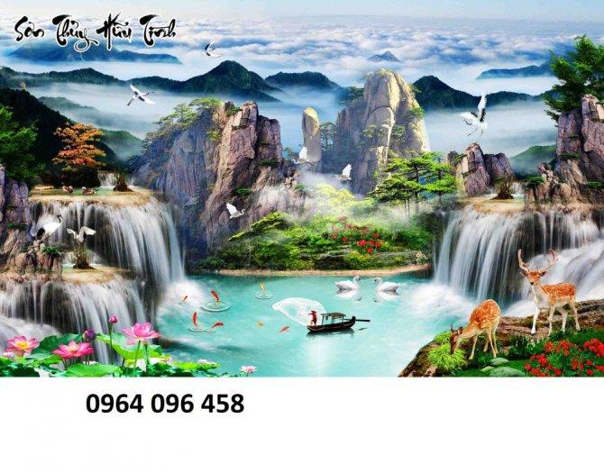 Gạch tranh 3d - tranh gạch 3d phong cảnh - VB435