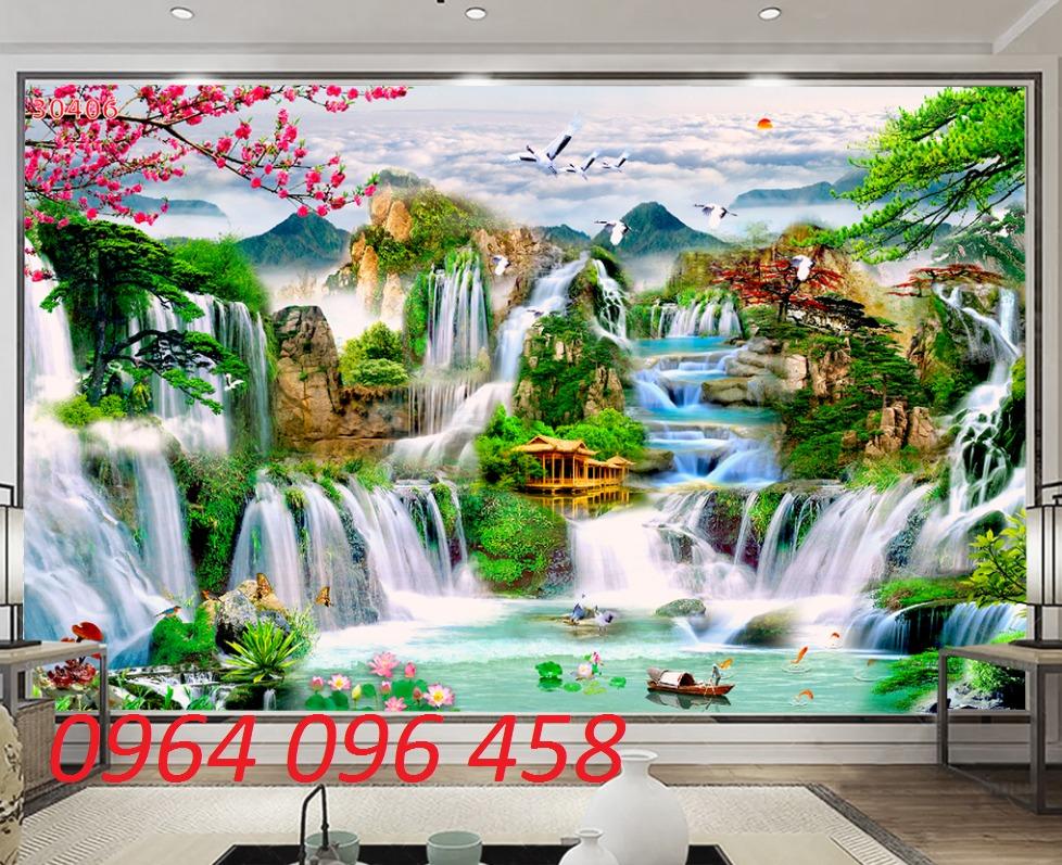 Gạch tranh 3d - tranh gạch 3d phong cảnh - VB430