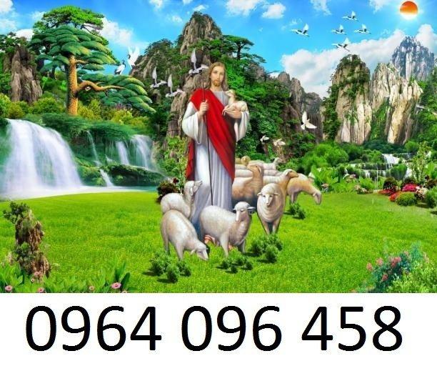 Tranh thiên chúa - gạch tranh 3d thiên chúa - 09MF6