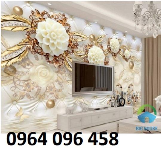 Gạch tranh 3d ốp tường sang trọng - KBN669