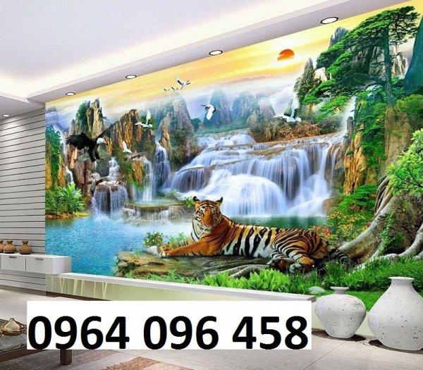 Tranh hổ -tranh gạch 3d hổ phong thủy - 85SNN10