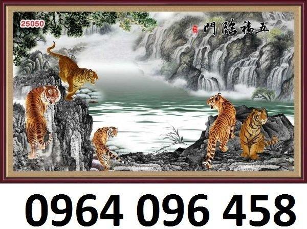 Tranh hổ -tranh gạch 3d hổ phong thủy - 85SNN7