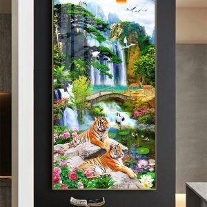 Tranh hổ -tranh gạch 3d hổ phong thủy - 85SNN6