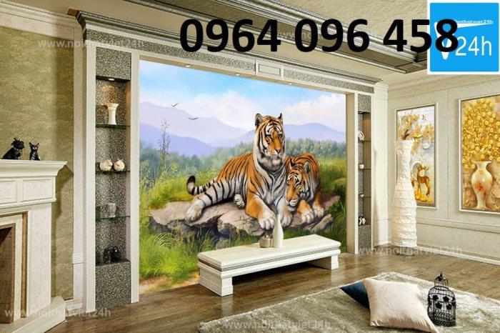 Tranh hổ -tranh gạch 3d hổ phong thủy - 85SNN5
