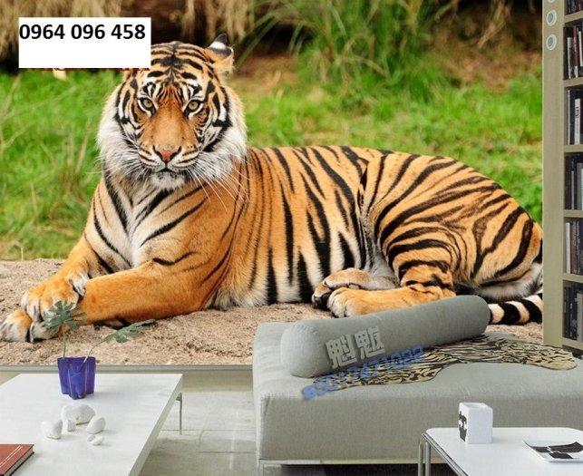 Tranh hổ -tranh gạch 3d hổ phong thủy - 85SNN4