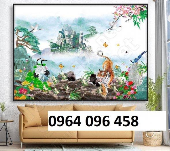 Tranh hổ -tranh gạch 3d hổ phong thủy - 85SNN2