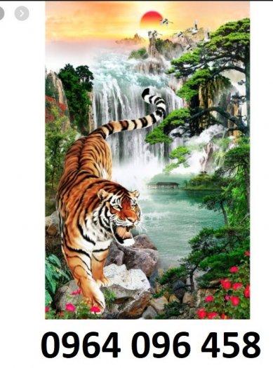 Tranh hổ -tranh gạch 3d hổ phong thủy - 85SNN0