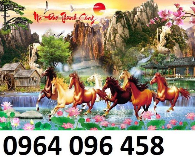 Tranh ngựa - tranh gạch 3d con ngựa - MVC410