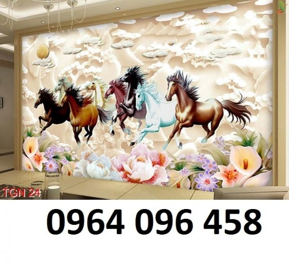Tranh ngựa - tranh gạch 3d con ngựa - MVC49