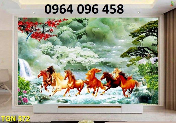 Tranh ngựa - tranh gạch 3d con ngựa - MVC48