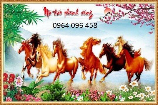 Tranh ngựa - tranh gạch 3d con ngựa - MVC46
