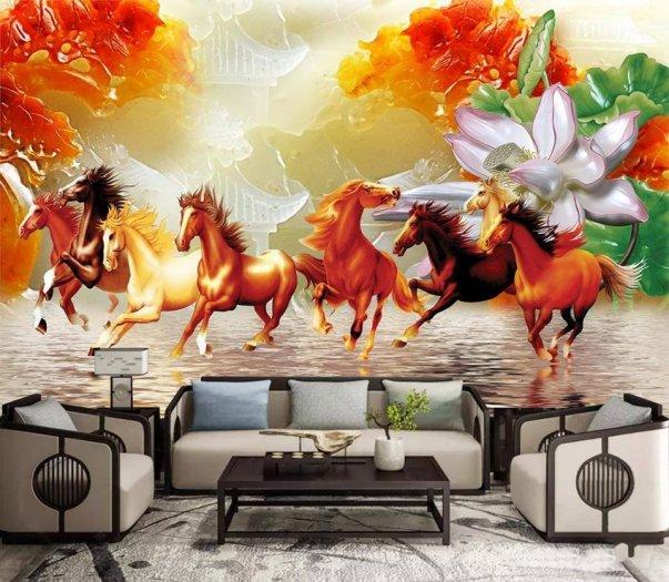 Tranh ngựa - tranh gạch 3d con ngựa - MVC45