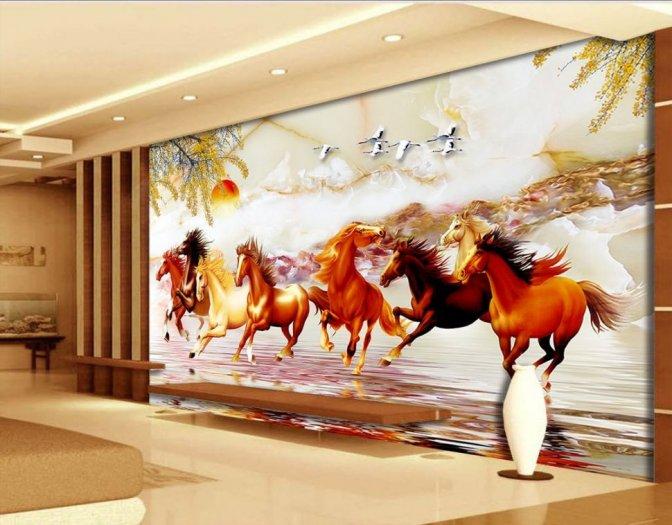 Tranh ngựa - tranh gạch 3d con ngựa - MVC43