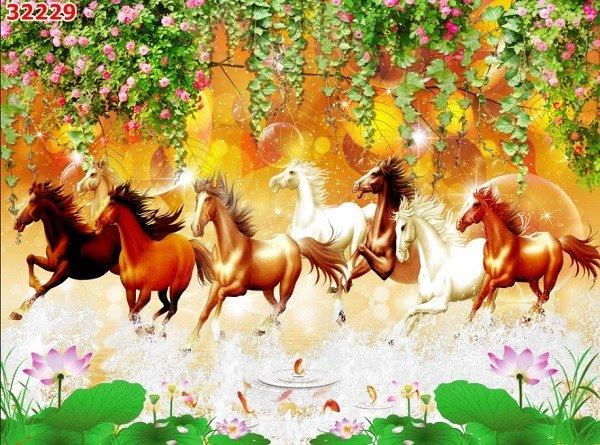 Tranh ngựa - tranh gạch 3d con ngựa - MVC42