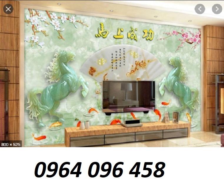Tranh gạch ốp tường 3d mã đáo thành công - KD445