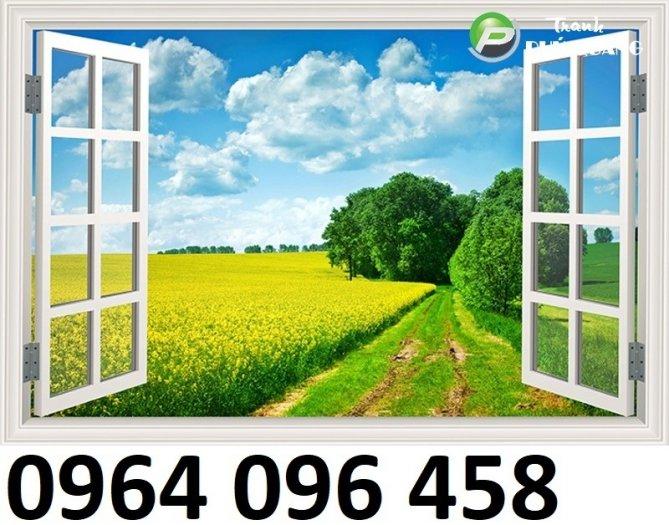 Tranh cửa sổ - tranh gạch 3d cửa sổ - 87FVC4