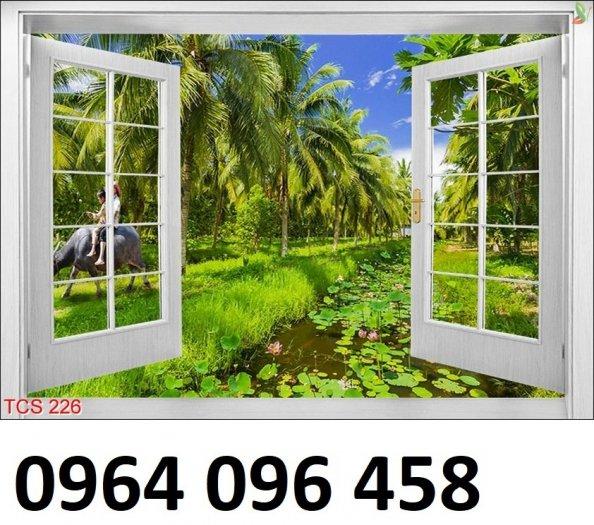 Tranh cửa sổ - tranh gạch 3d cửa sổ - 87FVC3