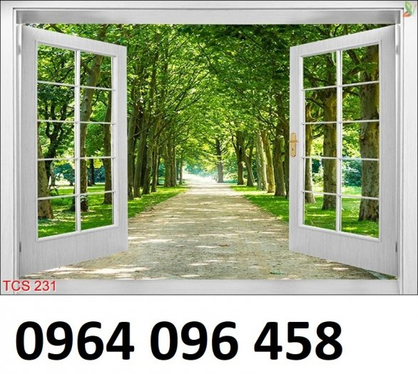 Tranh cửa sổ - tranh gạch 3d cửa sổ - 87FVC2