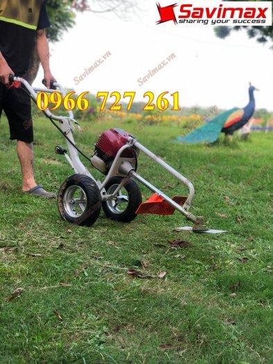 Máy cắt cỏ đẩy tay, động cơ Honda Gx352