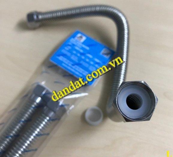 Dây cấp nước nóng lạnh 2m, dây dẫn nước inox 304, ống cấp nước mềm cho bình nóng lạnh inox9
