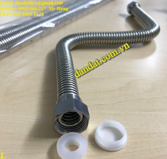 Dây cấp nước nóng lạnh 2m, dây dẫn nước inox 304, ống cấp nước mềm cho bình nóng lạnh inox6