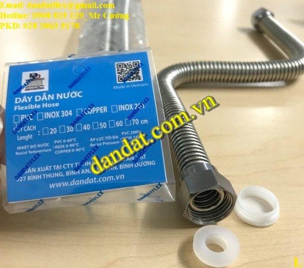 Dây cấp nước nóng lạnh 2m, dây dẫn nước inox 304, ống cấp nước mềm cho bình nóng lạnh inox4