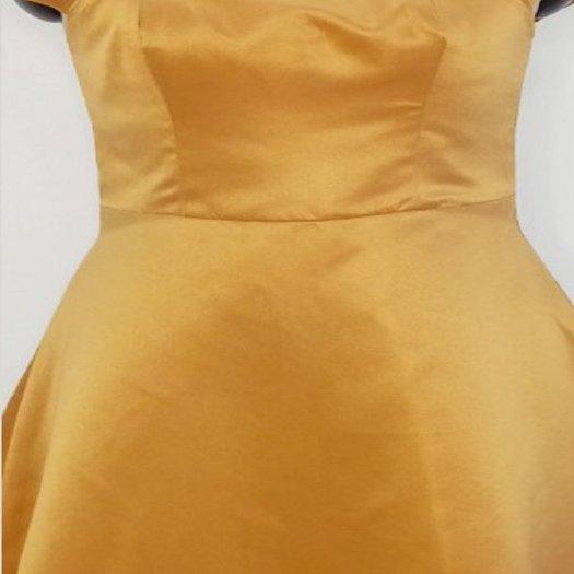 Đầm tiểu thư dáng xòe thời trang sang trọng D7.4-Vàng0