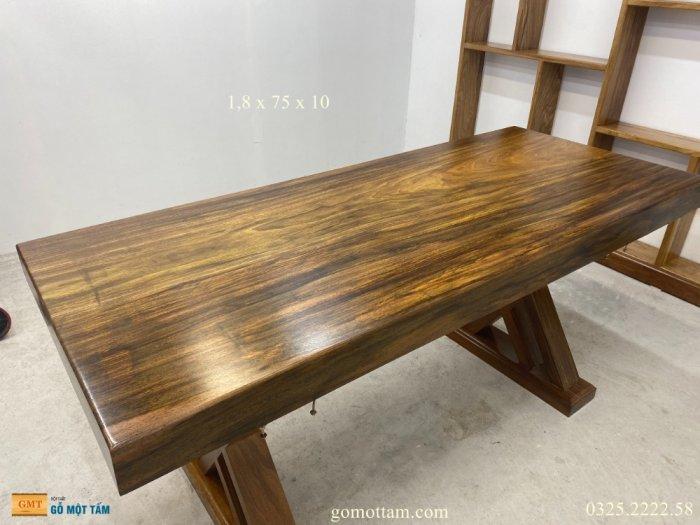 Bàn gỗ me tây nguyên tấm dài 1,8m rộng 75cm dày 10cm7