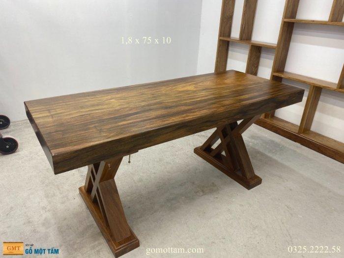 Bàn gỗ me tây nguyên tấm dài 1,8m rộng 75cm dày 10cm6