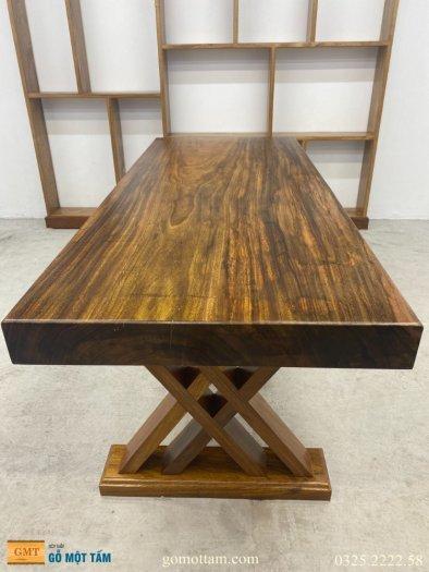 Bàn gỗ me tây nguyên tấm dài 1,8m rộng 75cm dày 10cm4